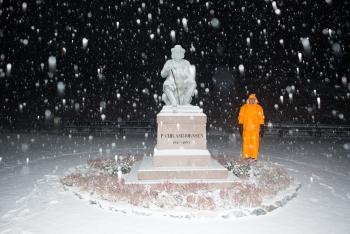 Asbjornsen Statue Oslo -1334