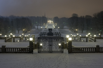 Vigeland south view at winter night-1457